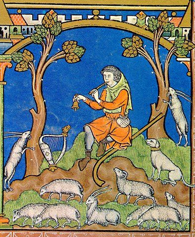 Shepherd from the Morgan/Maciejowski Bible (c. 1250 CE)